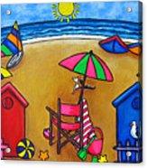 Beach Colours Acrylic Print