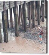 Beach Combing Acrylic Print