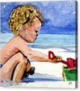 Beach Construction Acrylic Print