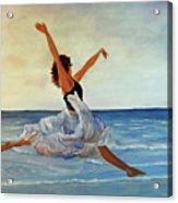 Beach Dancer Acrylic Print