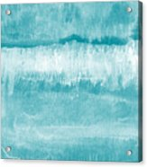 Beach Day Blue- Art By Linda Woods Acrylic Print