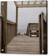 Beach Deck Acrylic Print