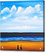 Beach Dogs Acrylic Print