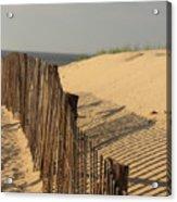 Beach Fence, Cape Cod Acrylic Print