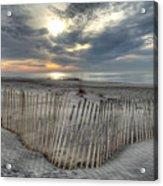 Beach Fence Acrylic Print