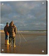 Beach Fishing Acrylic Print