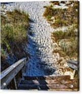 Beach Footprints - Boca Grande Florida Acrylic Print