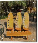 Beach Furniture Acrylic Print