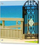 Beach Gate Acrylic Print