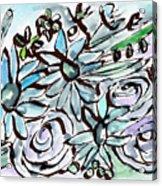 Beach Glass Flowers 2- Art By Linda Woods Acrylic Print
