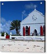 Beach Grand Turk Church Acrylic Print