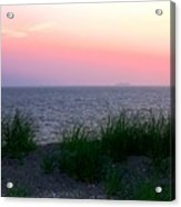Beach Grass On Long Island Sound Acrylic Print