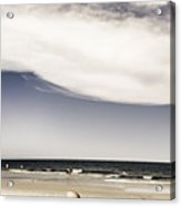 Beach Holiday Man Vertical Panorama Acrylic Print