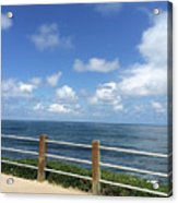 Beach Horizon Acrylic Print