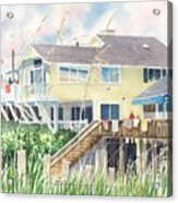 Beach House At Wrightsville Beach Acrylic Print