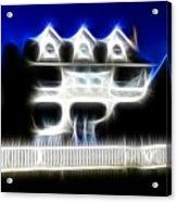 Beach House Fractal Acrylic Print