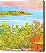 Beach House On The Bay Acrylic Print