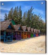 Beach Huts Acrylic Print