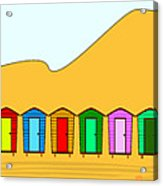 Beach Huts And Sand Acrylic Print