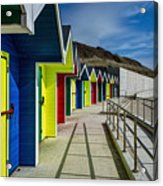 Beach Huts At Barry Island Acrylic Print