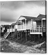 Beach Huts North Norfolk Uk Acrylic Print by John Edwards