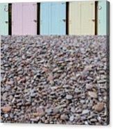 Beach Huts X Acrylic Print
