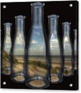Beach In Bottles Acrylic Print