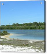 Beach Inland Lake Acrylic Print
