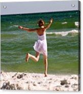 Beach Jump Acrylic Print