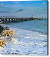 Beach La Tranche Sur Mer Acrylic Print