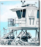 Beach Lifeguard Tower Acrylic Print