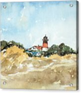 Beach Light House Acrylic Print