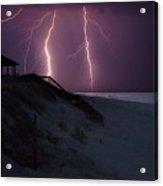 Beach Lighting Storm Acrylic Print