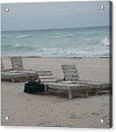 Beach Loungers Acrylic Print