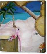 Beach Mural Acrylic Print