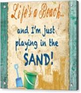 Beach Notes-jp3762 Acrylic Print
