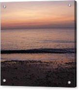 Beach Ocean Waves At Dawn 1 Acrylic Print