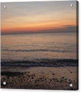 Beach Ocean Waves At Dawn 4 Acrylic Print