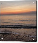 Beach Ocean Waves At Dawn 5 Acrylic Print