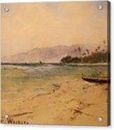 Beach Of Waikiki  Acrylic Print