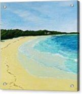 Beach On Norman's Island Acrylic Print