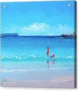 Beach Painting - A Sea Breeze Acrylic Print