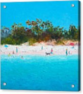 Beach Painting All Summer Long Acrylic Print