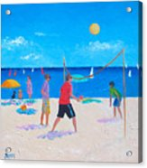 Beach Painting Beach Volleyball  By Jan Matson Acrylic Print