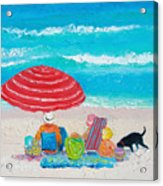 Beach Painting - One Summer Acrylic Print