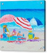 Beach Painting - Summer Beach Vacation Acrylic Print
