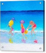 Beach Painting - Water Play  Acrylic Print