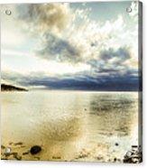 Beach Panorama Of A Sunrise Over The Sea Acrylic Print