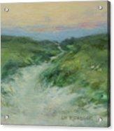 Beach Path At Dusk Acrylic Print