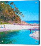 Beach Picnic Acrylic Print
